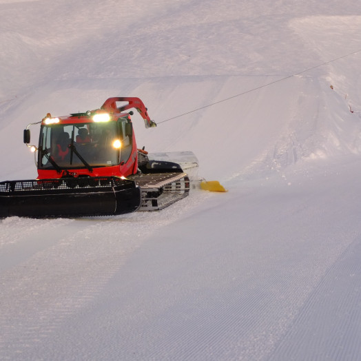 Be aware of ski area machinery